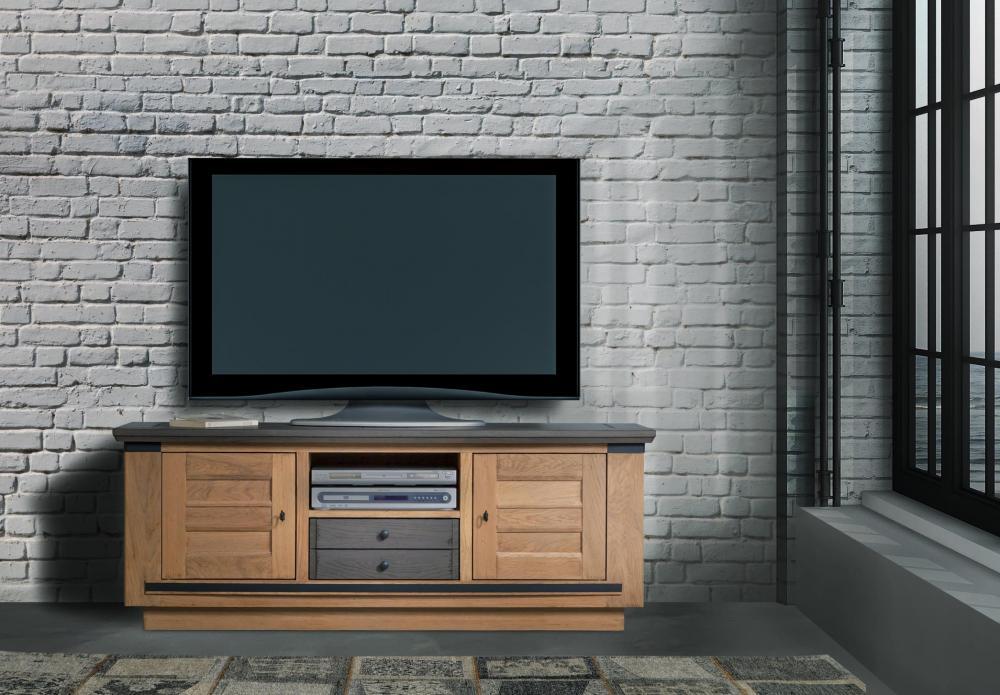 Meuble télé 2 portes 1 niche