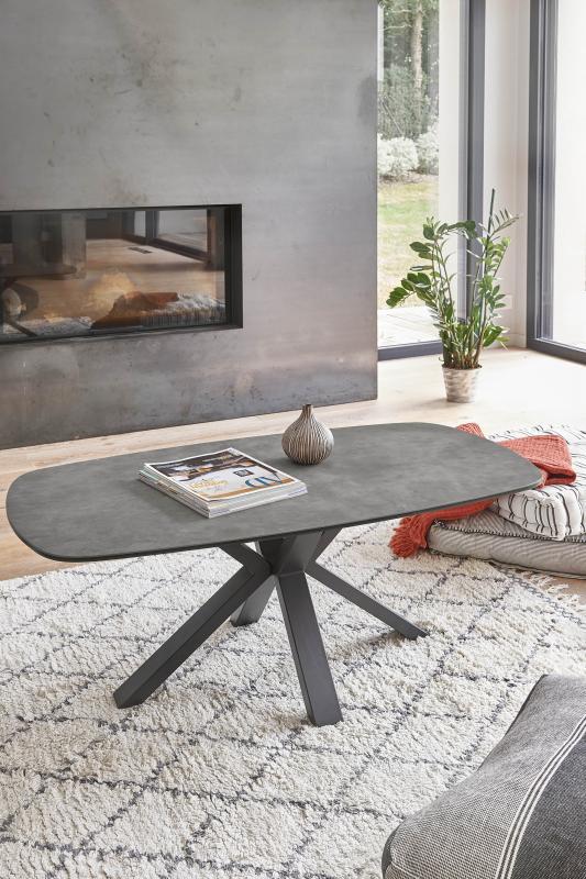 TABLE DE SALON PIED CENTRAL , dessus céramique