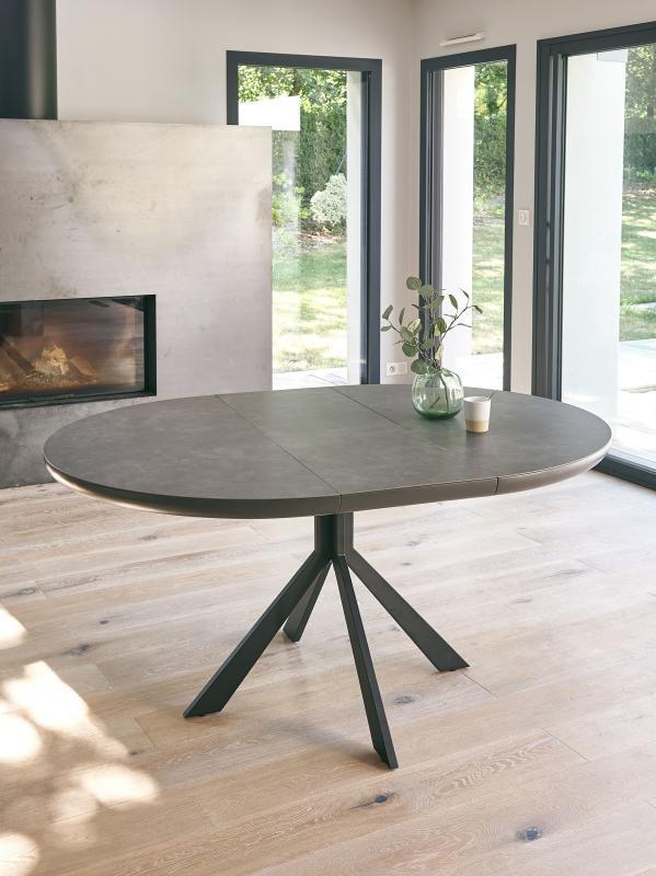 TABLE RONDE DESSUS CERAMIQUE